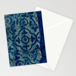 mosaic in cyan Stationery Cards