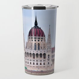 Panorama view of the famous Hungarian Parliament. Travel Mug