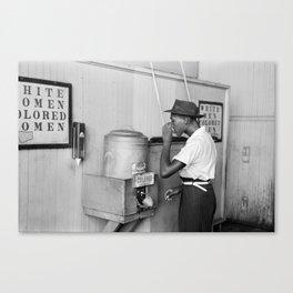 Segregated Drinking Fountain 1939 - Civil Rights Photo Canvas Print