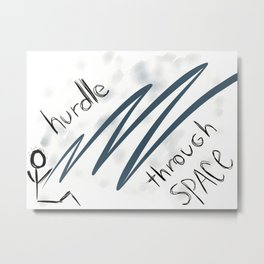 hurdle through space Metal Print