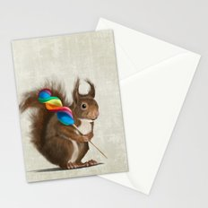 Squirrel with lollipop Stationery Cards