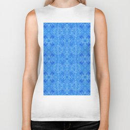 Blue pattern ... Biker Tank