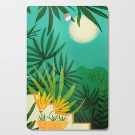 Exotic Garden Nightscape / Tropical Night Series #2 Cutting Board
