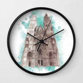 minster blue Wall Clock