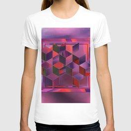 glitchy cubes T-shirt