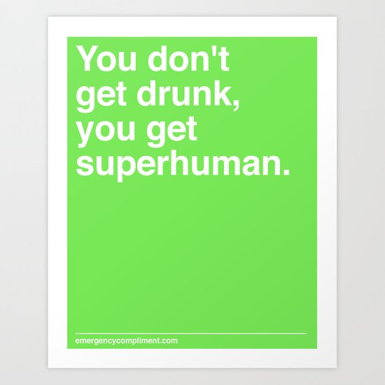 Superhuman Art Print
