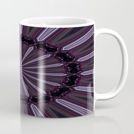 Eggplant and Pale Aubergine Abstract Floral Pattern Coffee Mug