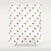 pizza Shower Curtains featuring Pizza by Sartoris ART