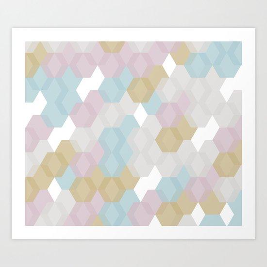 Hexagon #2 Art Print