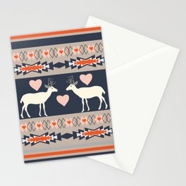 Romantic deer Stationery Cards