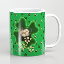 Four Leaf Clovers and Pots of Gold Coffee Mug