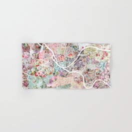 Pittsburgh map - Landscape Hand & Bath Towel