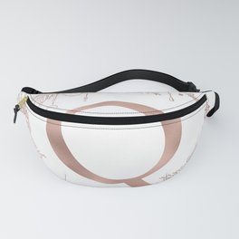 Letter Q Rose Gold Pink Initial Monogram Fanny Pack