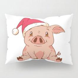 Christmas Pig Pillow Sham