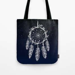 dreamcatcher night sky indigo constellations Tote Bag