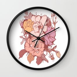Rose Garden - Red & Pink Wall Clock