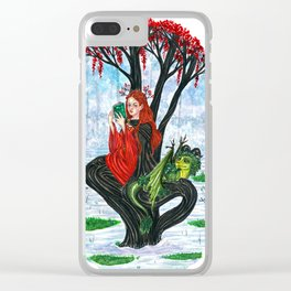 The Rowan tree sign Clear iPhone Case