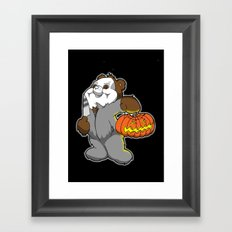 Halloween bear Framed Art Print