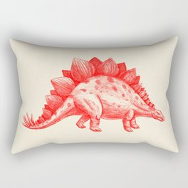 Red Stegosaurus  Rectangular Pillow