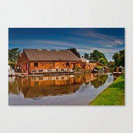 Shardlow Boat Yard Canvas Print