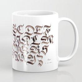 Double Trase Fraktur Schrift Coffee Mug