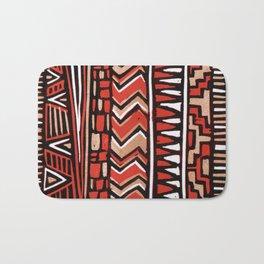 Aztec lino print Bath Mat