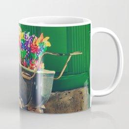 Vintage colorful baby stroller - Fine Art Photography Coffee Mug