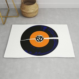 Broken 45 RPM Single Record Rug