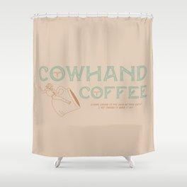 Cowhand Coffee - Mint, Mauve & Cream Shower Curtain