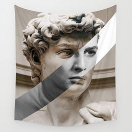 Michelangelo's David & Marlon Brando Wall Tapestry