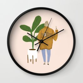 power of a woman Wall Clock
