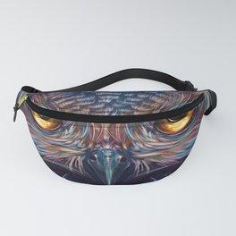 Gorgeous Mystic Fantasy Owl Big Piercing Eyes Spiritual Dreamland Ultra HD Fanny Pack