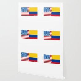 colombian american half colombia half america flag tee Wallpaper
