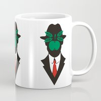 magritte Mugs featuring René Magritte by Fen_A