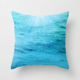 Sparkly Sea Sun Sparkles Throw Pillow