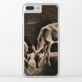 Doe And Fawn At Night Clear iPhone Case