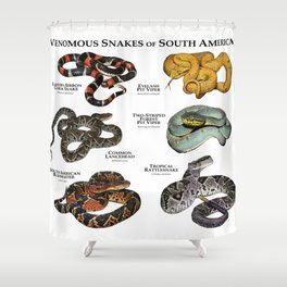 Venomous Snakes of South America Shower Curtain