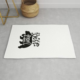 Best Mom Ever lovely Mama bear inspirational quote with bear silhouette. Hand writing vintage calligraphy phrase. isolated for print and poster. Typography design. Rug