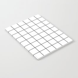 Grid Simple Line White Minimalistic Notebook