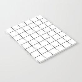 Grid Pattern Stripes Lines Black and White Minimalist Geometric Stripe Line Notebook