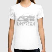 subaru T-shirts featuring Subaru Impreza 2006 - silver - by Vehicle