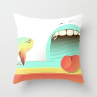 fear Throw Pillows featuring Fear by Laima St