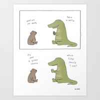 selfie Art Prints featuring Selfie by Liz Climo