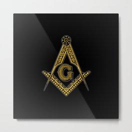 Freemason (Black & Gold) Metal Print