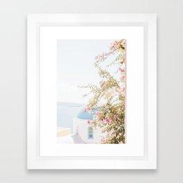 Pretty Oia Santorini Framed Art Print