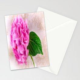 Vintage Pink Hydrangea Stationery Cards