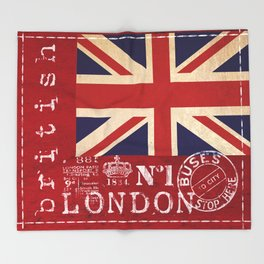 Union Jack Great Britain Flag Throw Blanket