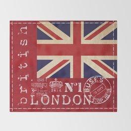 Union Jack Great Britain Flag Throw Blanket