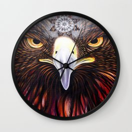Golden Eyeagle Wall Clock