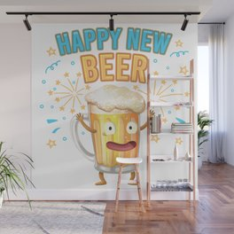 Happy New Beer - Creative New Year Design Wall Mural